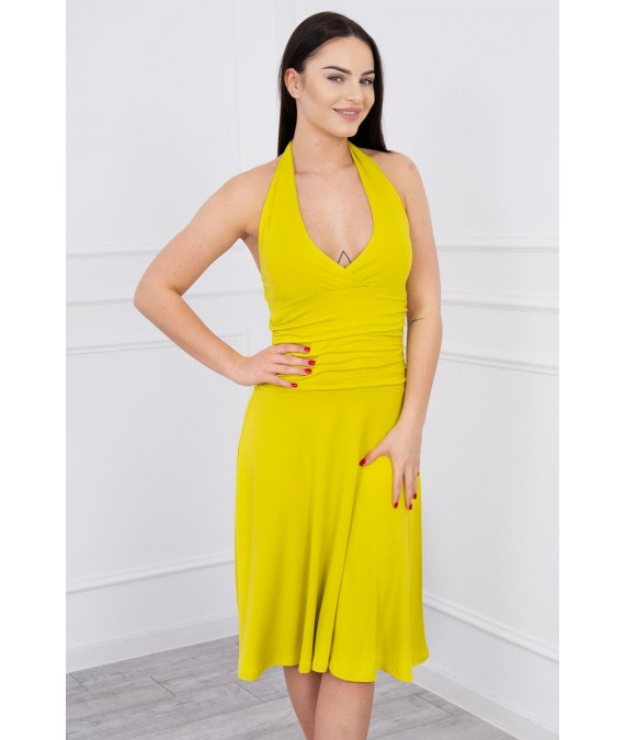 Suknelė su apykakle (Kivio spalva)