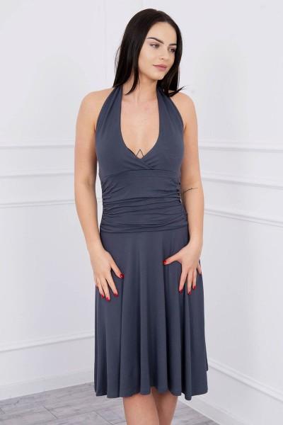Suknelė su apykakle (Grafito)