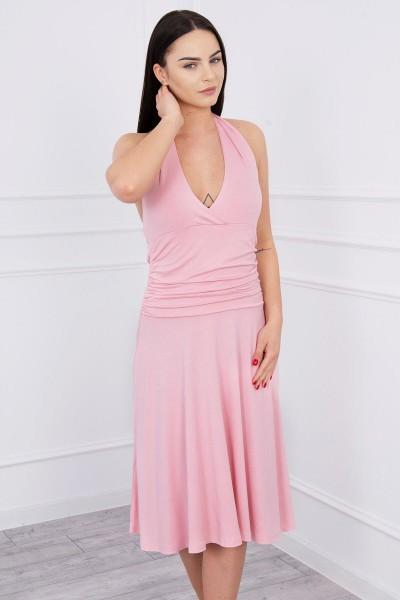 Suknelė su apykakle (Šviesiai) (Rožinė)