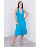 Suknelė su apykakle (Turkio spalva)