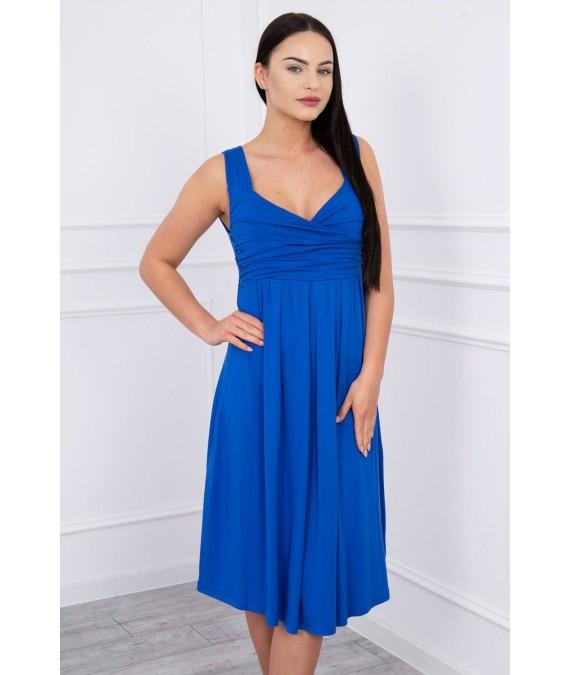 Suknelė su raišteliu (Rugiagėlių spalva)