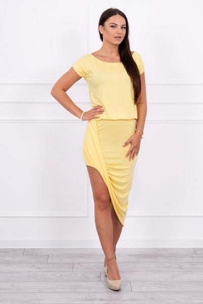 Asimetriška suknelė (Geltona)