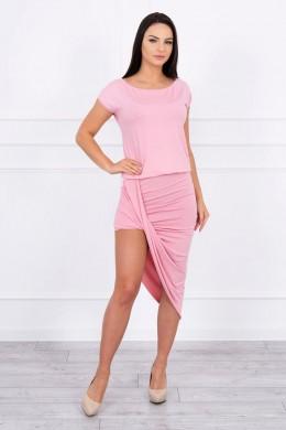 Asimetriška suknelė (Šviesiai) (Rožinė)